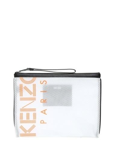 Kenzo Clutch / El Çantası Beyaz